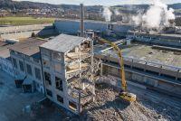 Teilabbruch Kartonfabrik Niedergösgen