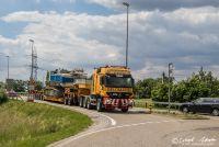Baggertransport bei Rheinfelden