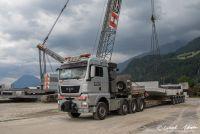 Elementtransport für das Gümmenenviadukt