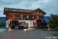 Abtransport eienr verunfallten Diesellok